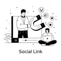 atração e atenção social vetor