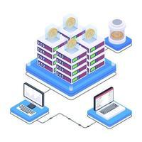 tecnologia digital bitcoin vetor