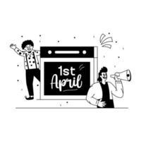 calendário de abril vetor