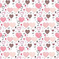 Padrão de vetor de corações dos namorados