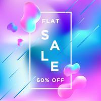 Banner de venda Liquify Fluid cor fundo