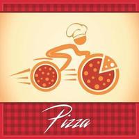 logotipo de entrega de pizza vetor