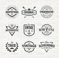 Emblemas hipster
