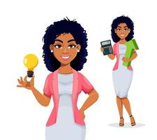 mulher de negócios americano africano vetor