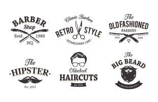 Emblemas retros do barbeiro