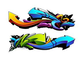 Desenhos de flechas de graffiti