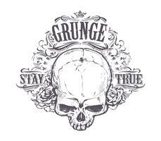 Arte do crânio do grunge