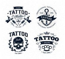 Emblemas do estúdio do tatuagem