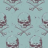 Crânios de grunge sem costura