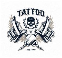 Poster do estúdio da tatuagem vetor