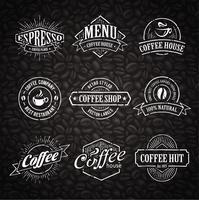 Selos de café desenhados à mão vetor