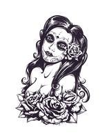 Dia da garota sexy morto vetor