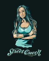 rainha da rua vetor