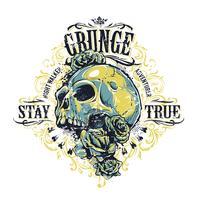 Impressão do crânio do grunge