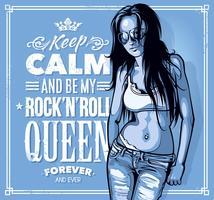 Rock'n'Roll Queen vetor