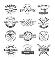 Conjunto de vetores de emblemas de artesanato