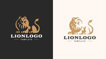 Logotipo do leão vetor