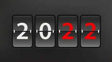 feliz novo conceito de vetor de 2022 anos com placar