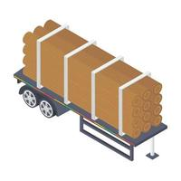 conceitos de pilha de madeira vetor