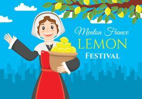 Menton france lemon festival Ilustração vetor