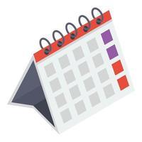 conceitos de calendário de programação vetor