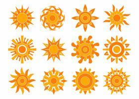 Vetor de coleção de sol
