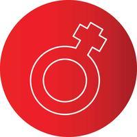 Círculo de linha gradiente perfeito ícone Vector ou ilustração de Pigtogram
