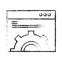 Linha áspera perfeita ícone Vector ou ilustração de Pigtogram