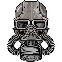 emblema industrial com crânio vetor