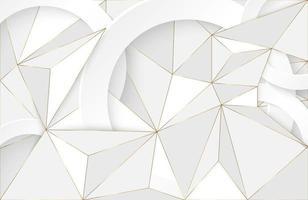 fundo geométrico abstrato com elemento branco e dourado fundo moderno futurista vetor