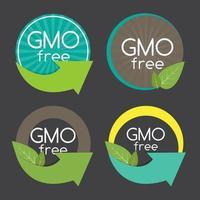 ilustração em vetor gmo free label set