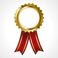 distintivo dourado premium vetor