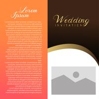 Cartão de convite de casamento com lugar de texto vetor