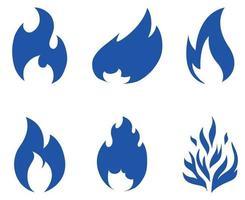 ilustração abstrata do ícone do design da coleção da tocha de fogo com fundo branco vetor
