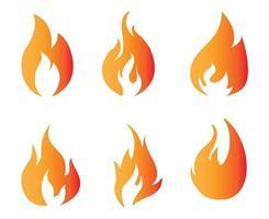 ilustração abstrata do ícone do projeto da coleção da tocha de fogo com fundo branco vetor