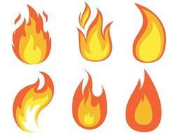 ilustração de logotipos de design de coleção de fogo abstrato vetor