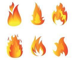 projeto tocha fogo coleção símbolos chama ilustração abstrata vetor