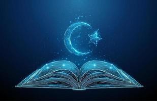 livro de torá aberto abstrato com estrela de David vetor
