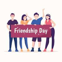 amizade nunca acaba vetor