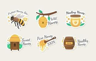 Conjunto de adesivos de ativismo para proteção de abelhas vetor