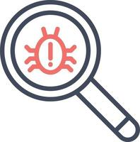 ícone de bug de pesquisa vetor