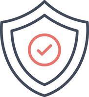 ícone de escudo de segurança vetor