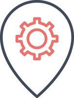 ícone de configurações de localização vetor