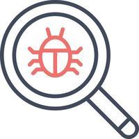 encontrar ícone de bugs vetor