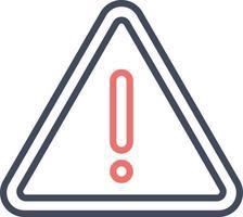 ícone de vetor de aviso