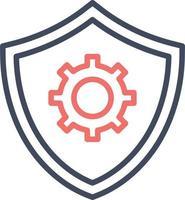 ícone de configurações de segurança vetor