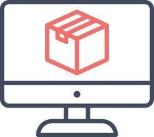 ícone de vetor de pacote