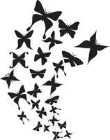 grupo de borboletas voando vetor
