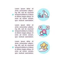comportamento e comunicação abordam ícones de linha de conceito com texto. modelo de vetor de página ppt com espaço de cópia. folheto, revista, elemento de design de boletim informativo. ilustrações lineares de autismo em branco