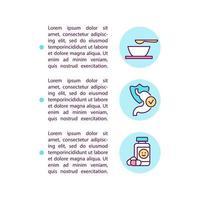 abordagens dietéticas e ícones de linha de conceito de medicação com texto. modelo de vetor de página ppt com espaço de cópia. folheto, revista, elemento de design de boletim informativo. ilustrações lineares de cuidados de saúde em branco